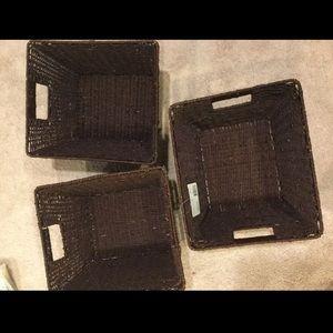 Brand new brown storage baskets